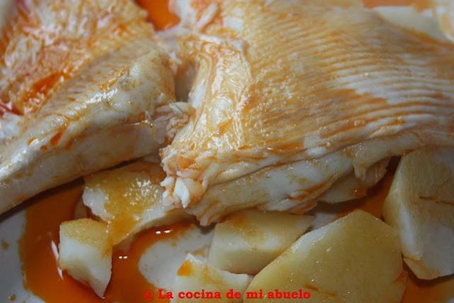 Como Cocinar La Raya   Raya En Caldeirada