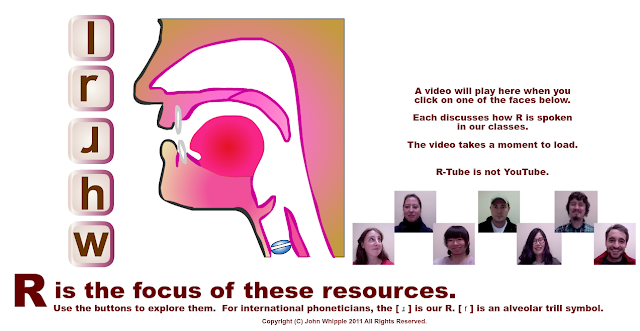 R is the focus of these resources: A multimedia resource with video, text and interactive animation to focus on the /r/