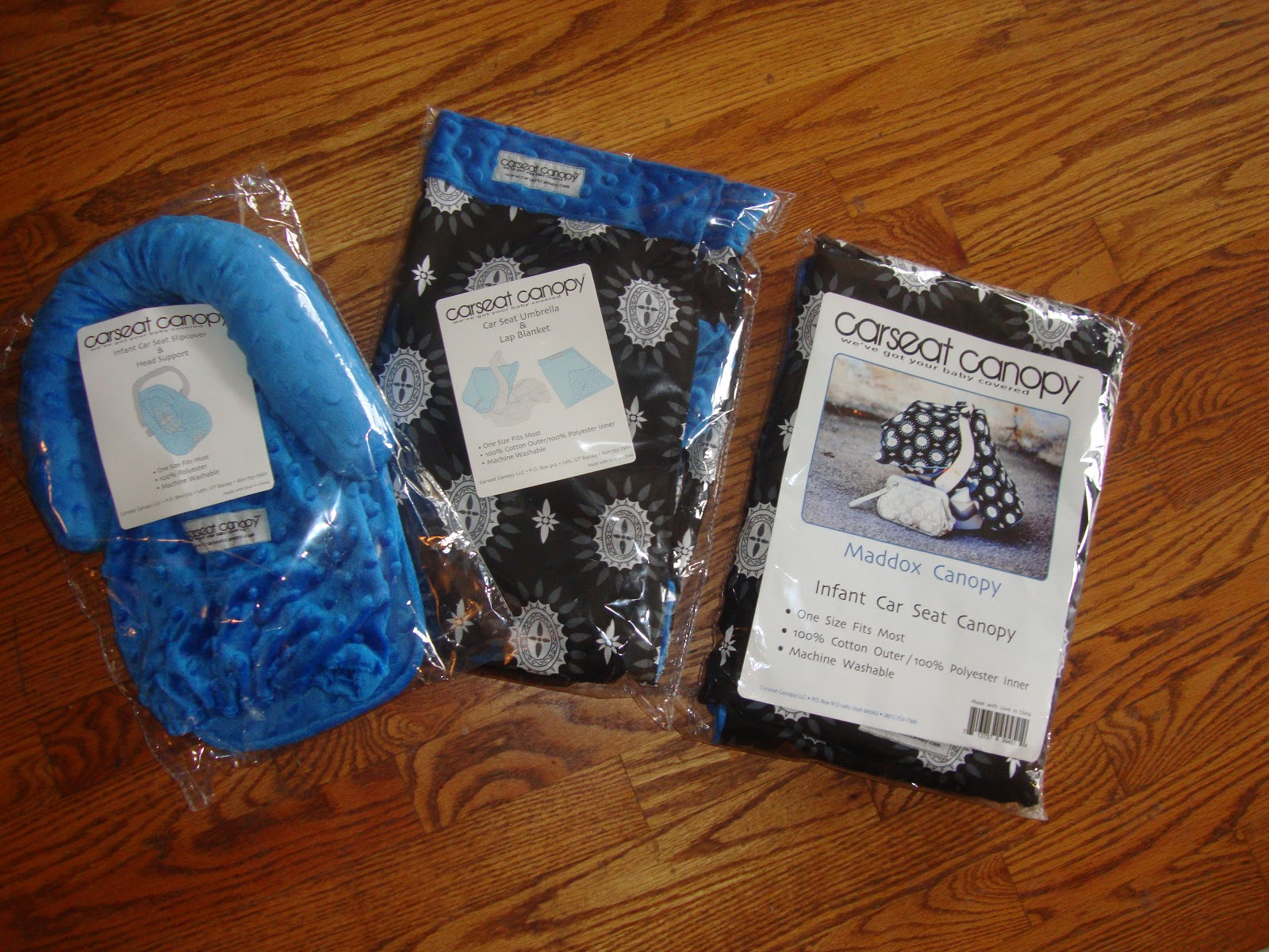 On the packaging it shows you where each piece goes. They have alot of different colors to choose from and this pattern is called the Maddox Whole Caboodle. & Trying To Go Green: Carseat Canopy Whole Caboodle Review u0026 Giveaway