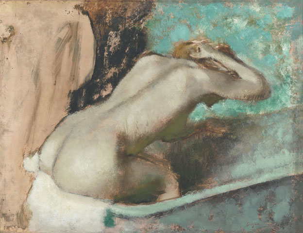 Edgar Degas Woman Seated On The Edge Of Bath Sponging Her Neck Oil