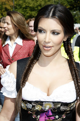 Kim Kardashian Long Braided Hairstyles