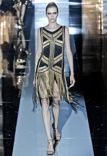 Права рокля с ресни от Gucci