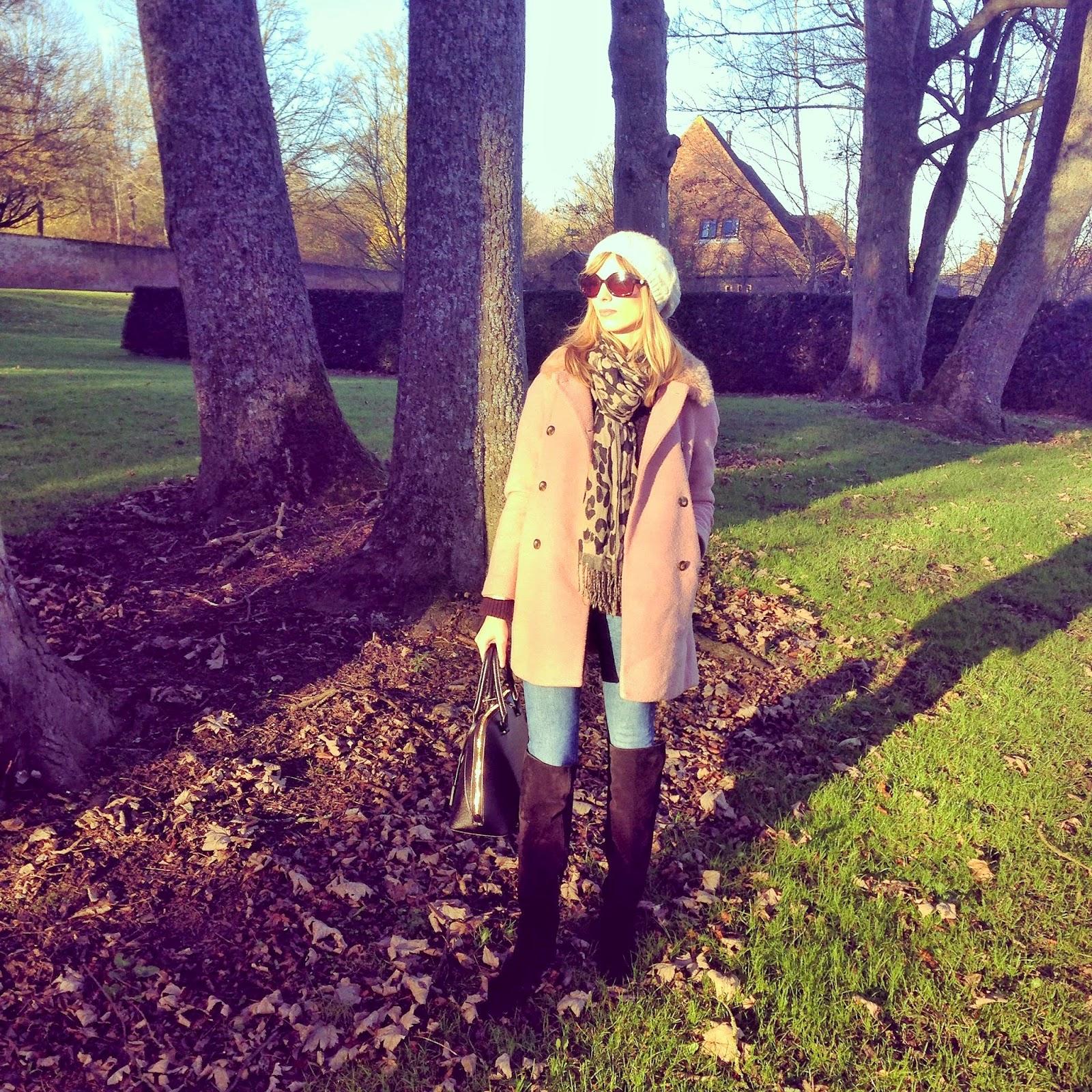 Zara pink coat #OOTD