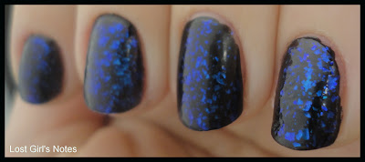 nails inc. black kensington and the wyndham top coat flakie