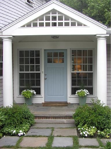 Coastal shore creations painted front doors beach house - Door colors for grey house ...