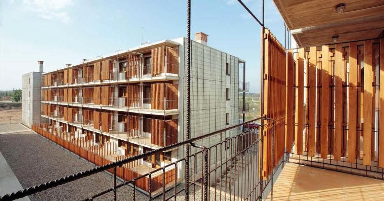 Celos as de madera en estas 80 viviendas de vpo en salou - Celosias de madera ...
