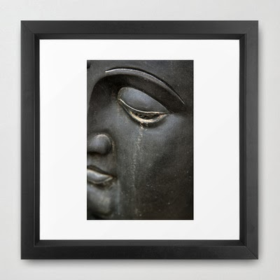 framed fine art print of weeping buddha