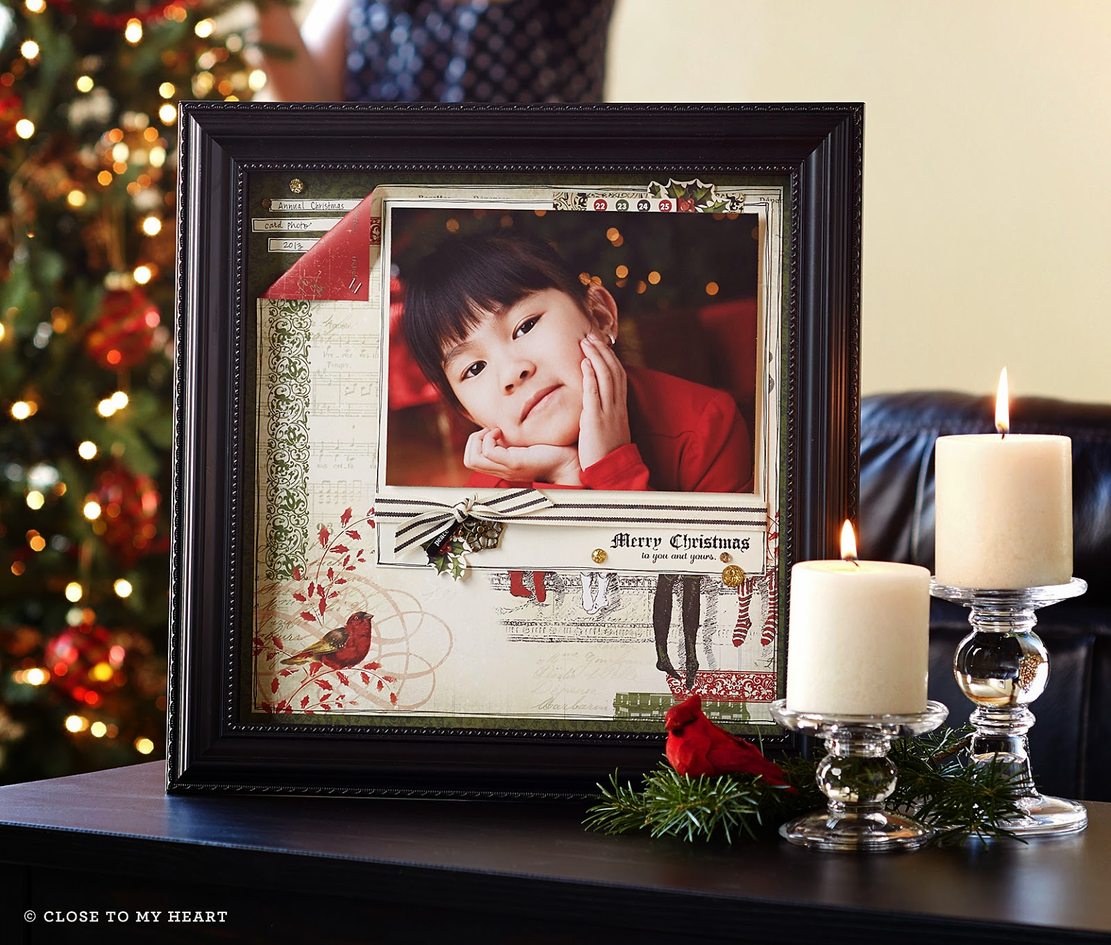 CTMH Yuletide Carol Shadow Box Gift Idea