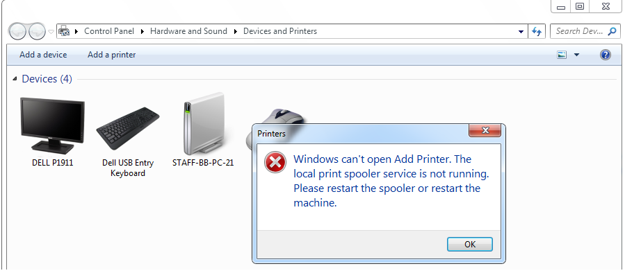 Blu3yyTech Windows 7 Unable To Add Printer Network