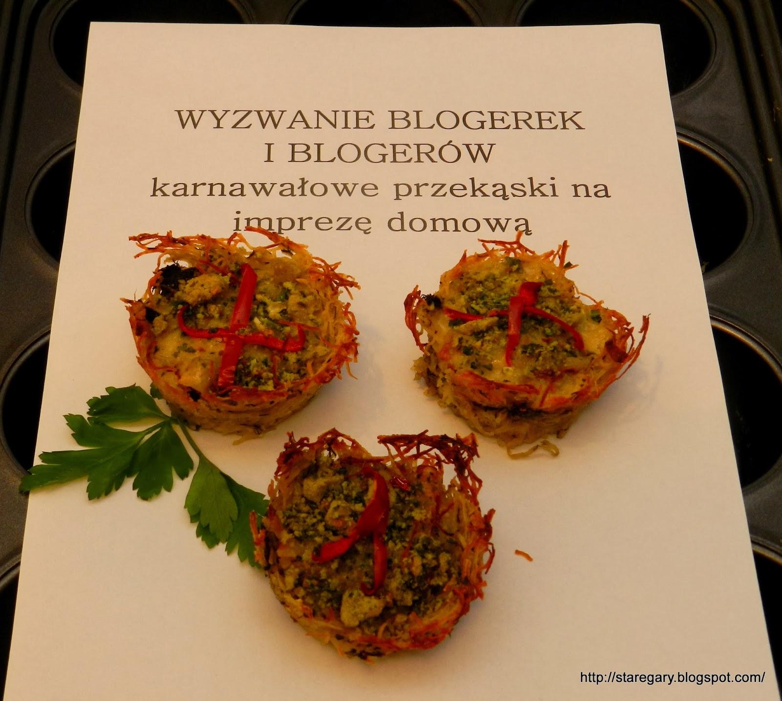 Mini quiche z ziemniaczanym spodem - Styczniowe Wyzwanie Blogerek i Blogerów