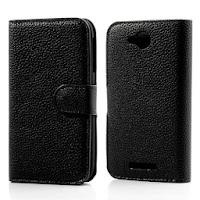 Leather Case for Lenovo A706 - Black