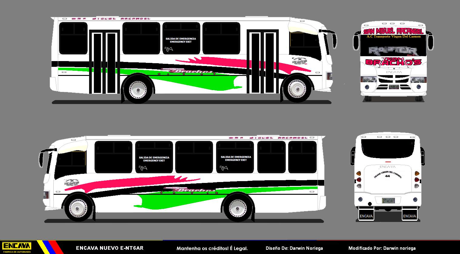 Diseños Autobuses Venezuela: Encavas Pintadas