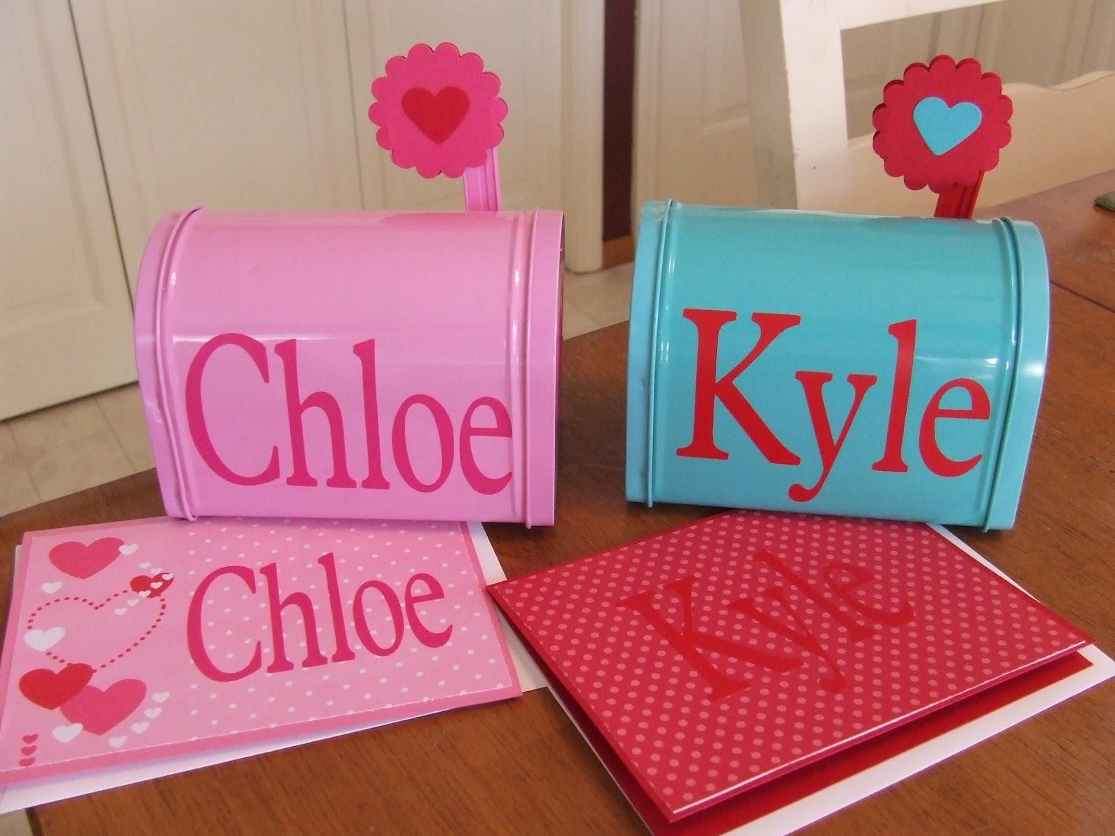 Crafty Queen CB: Valentine Mailboxes for some special grandchildren