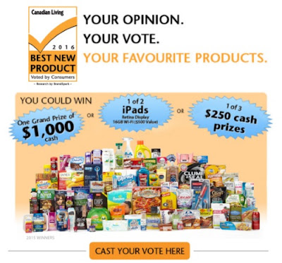 Canadian Living 2016 Best New Products Awards Giveaway