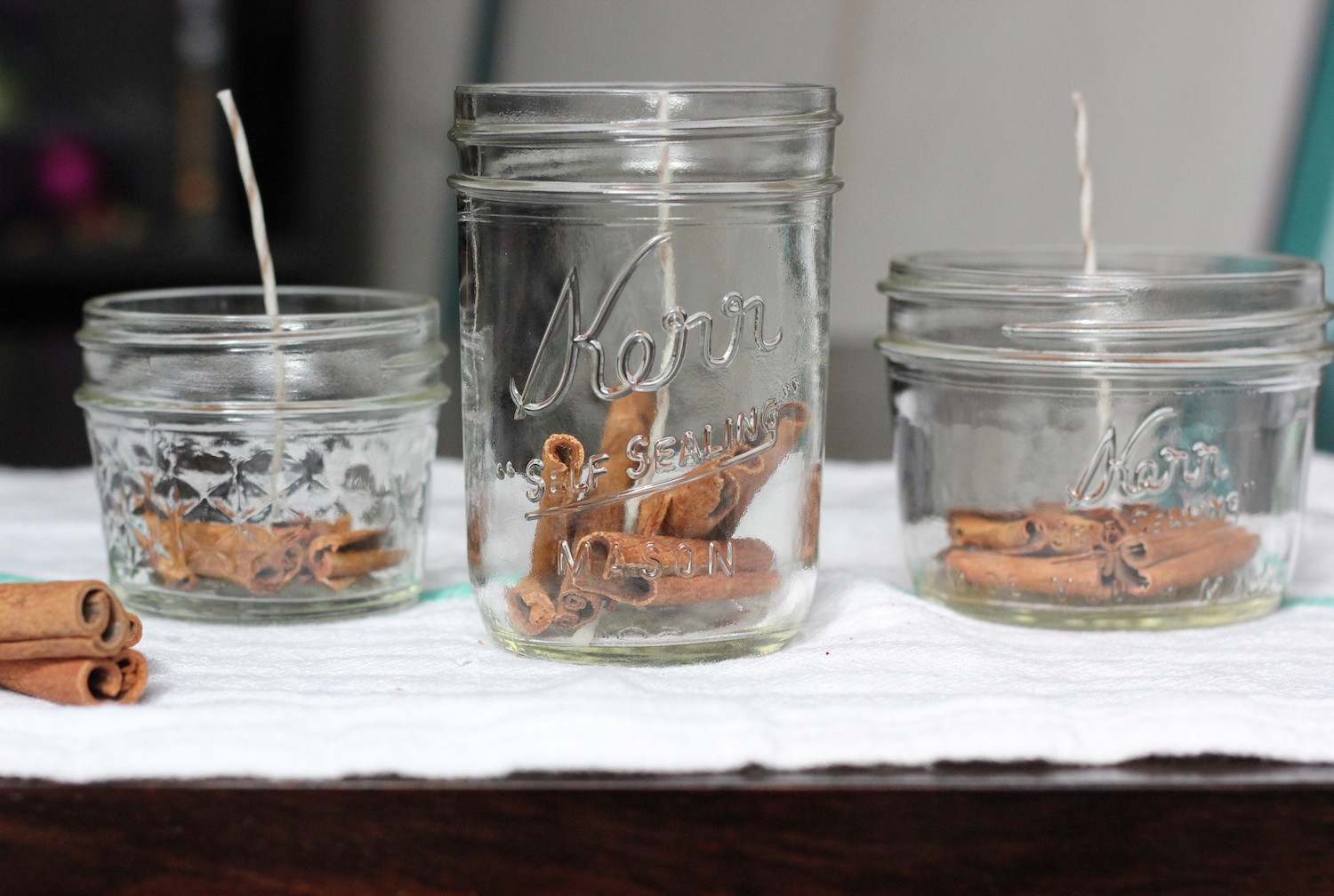 Diy Candles The Lucky Penny Blog Diy Cinnamon And Honey Beeswax Candles