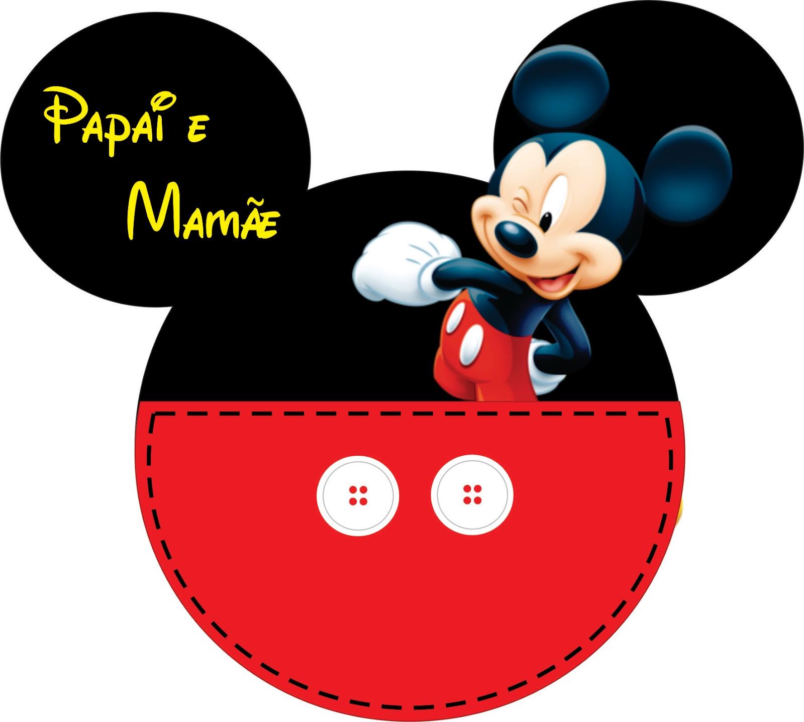 Juliane Lopes: Convite Mickey mouse