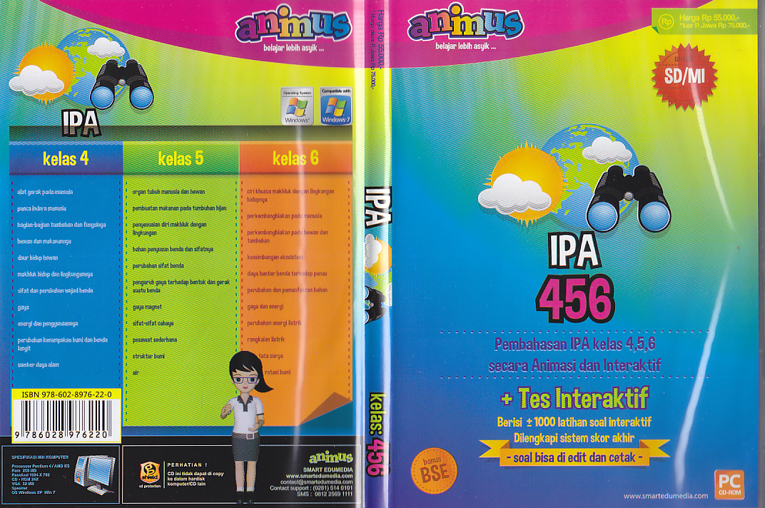 Toko Buku Rahma Cd Animus Ipa Kelas 4 5 6 Sd Mi
