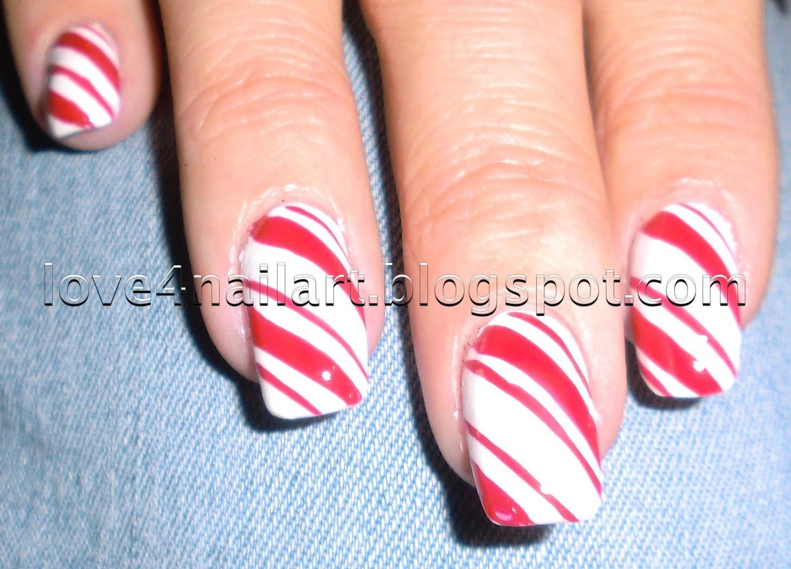 love4nailart candy cane nails queenofblendingmua