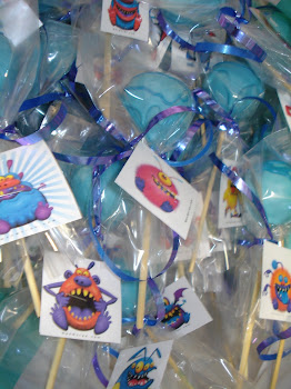 Little Blue Monster Cake Pops