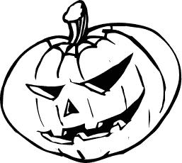 Coloring Page Pumpkin Outline Clip Art