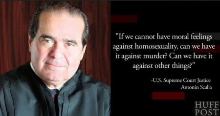 Justice scalia comments on homosexuality