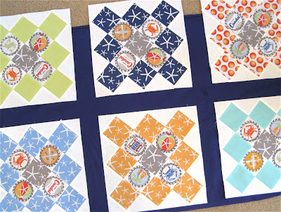 Quilt using Going Coastal by Emily Herrick for Michael Miller Fabrics