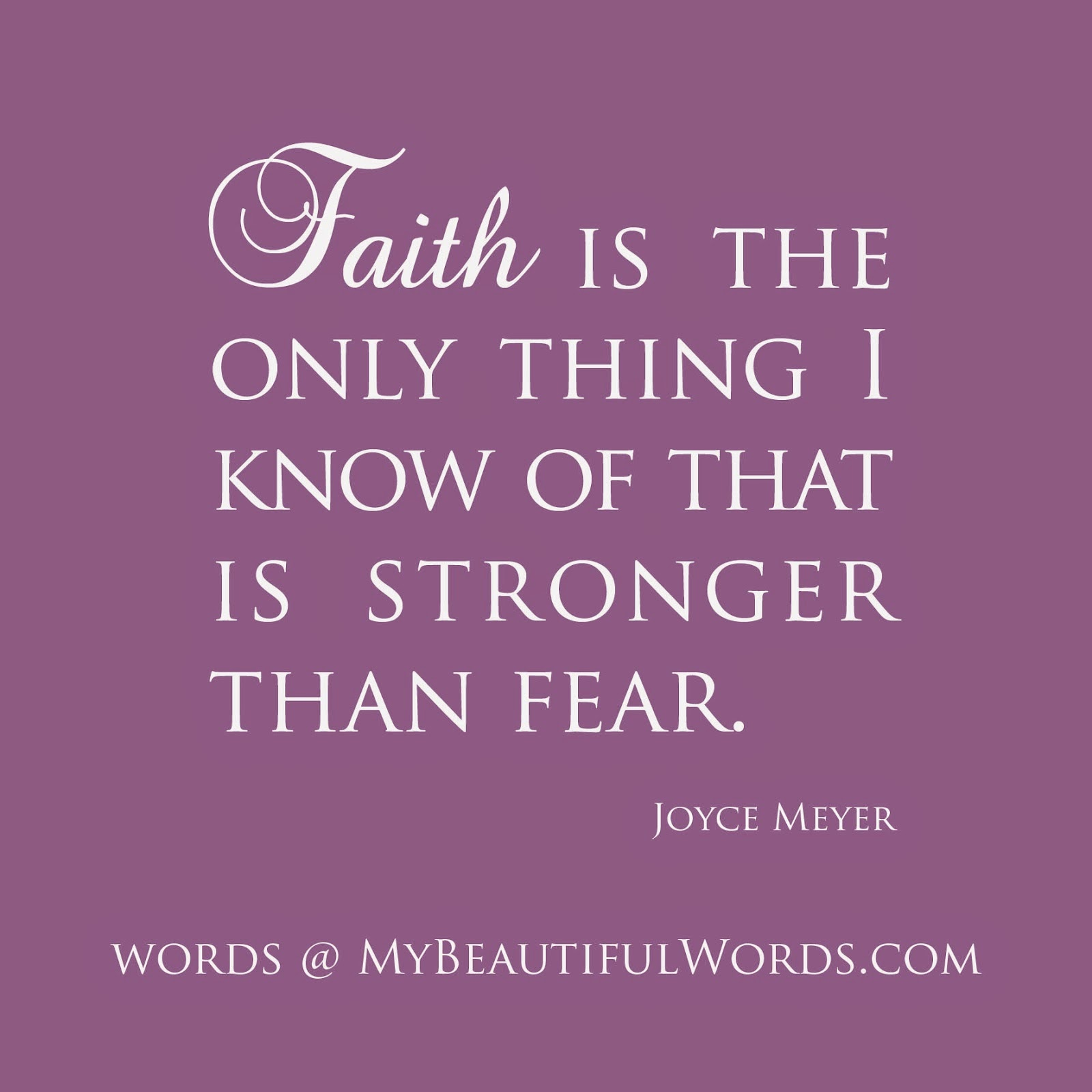Overcome Fear with Faith
