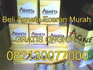 Ingin join Agneta tapi masih ragu dengan rasa dan kualitas produk Agneta? Anda bisa mencobanya terlebih dahulu dengan membeli Agneta secara Eceran dengan harga murah dan gratis ongkos kirim ke seluruh Indonesia.   Sebenarnya secara hitung - hitungan lebih hemat membeli Agneta dengan harga paket , Selain lebih murah , Anda juga berkesempatan mendapatkan ID / Hak Bisnis Agneta , dan jika Anda jalankan bisnisnya, maka peluang bagi Anda untuk mendapatkan bonus dan konsumsi Agneta GRATIS semakin dekat. Namun ga apalah jika Mbak / Mas ingin coba terlebih dahulu dengan membeli Eceran.     Berikut ini harga Agneta Eceran Gratis Ongkos Kirim ke Seluruh Indonesia :     1 Sachet Rp 60,000,-  3 Sachet Rp 170,000,-   5 Sachet Rp 265,000,-    10 Sachet Rp 500,000,-