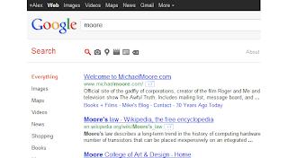Menu Google dengan Icon