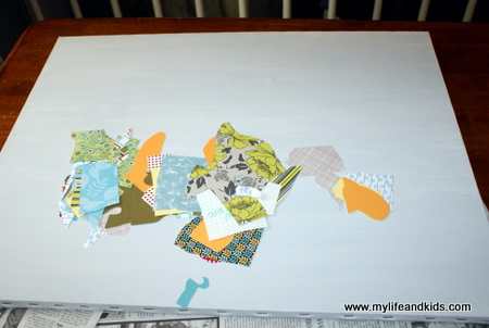 Remodelaholic DIY USA Map Out Of Scrapbook Paper - Us state map diy photos