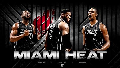 Miami Heat 2013 Big Three Wallpaper HD