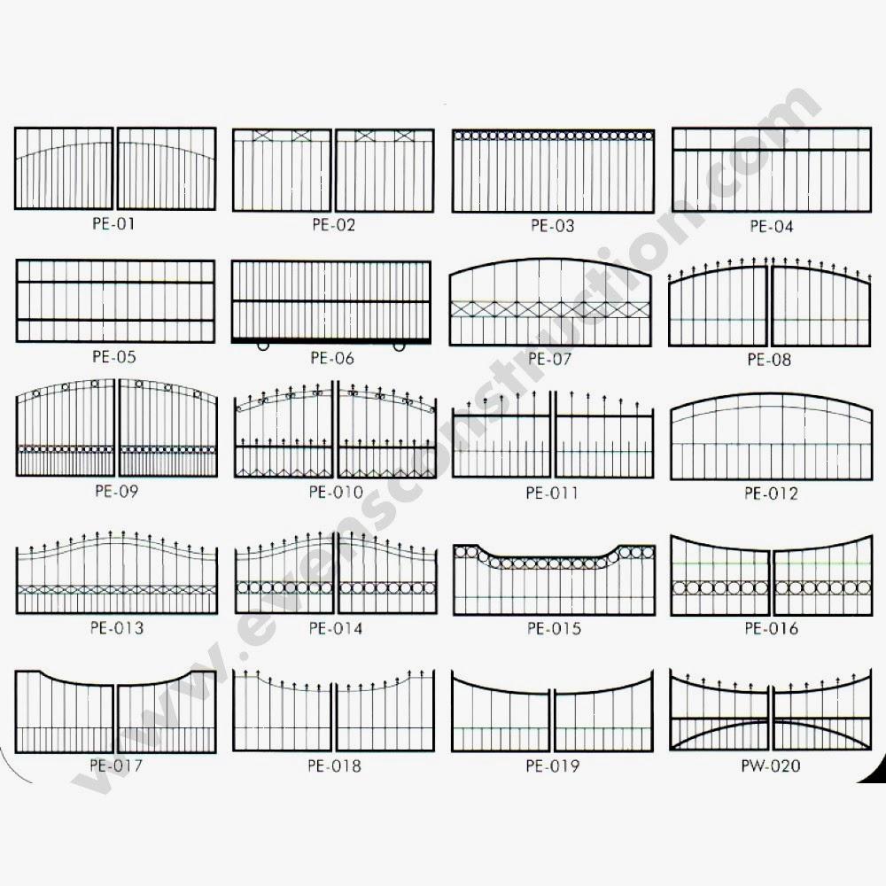 Evens Construction Pvt Ltd: GATES : sample sketches