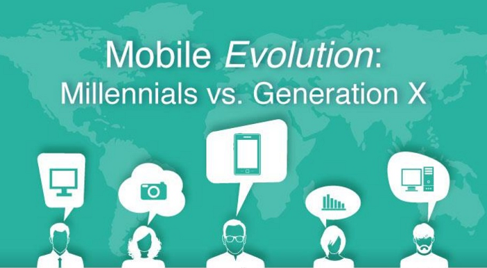 Mobile Evolution: Millennials vs. Generation X - infographic