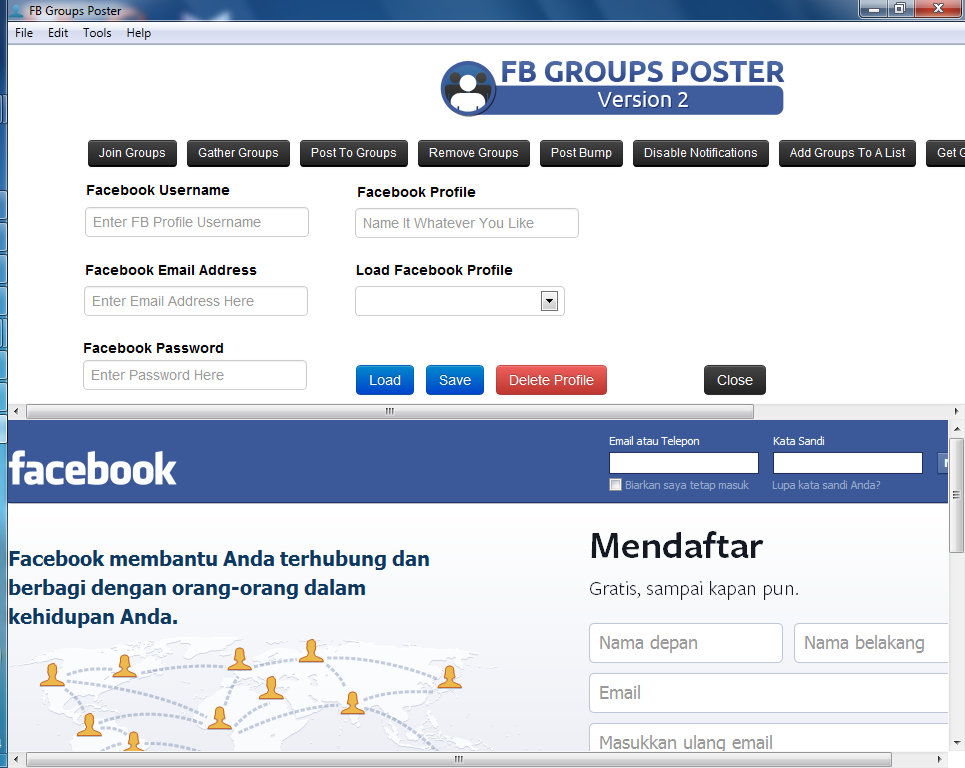 how to get email addresses from facebook groups