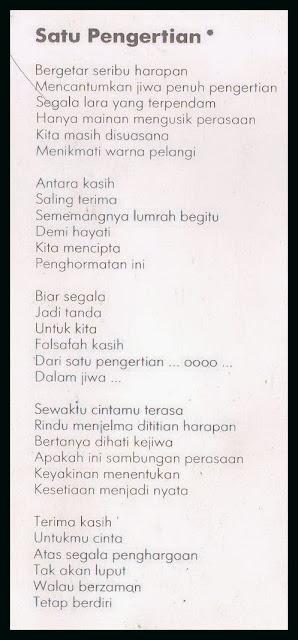 Lirik Strangers Satu Pengertian