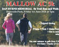 Popular 5k in N Cork...Fri 1st June 2018
