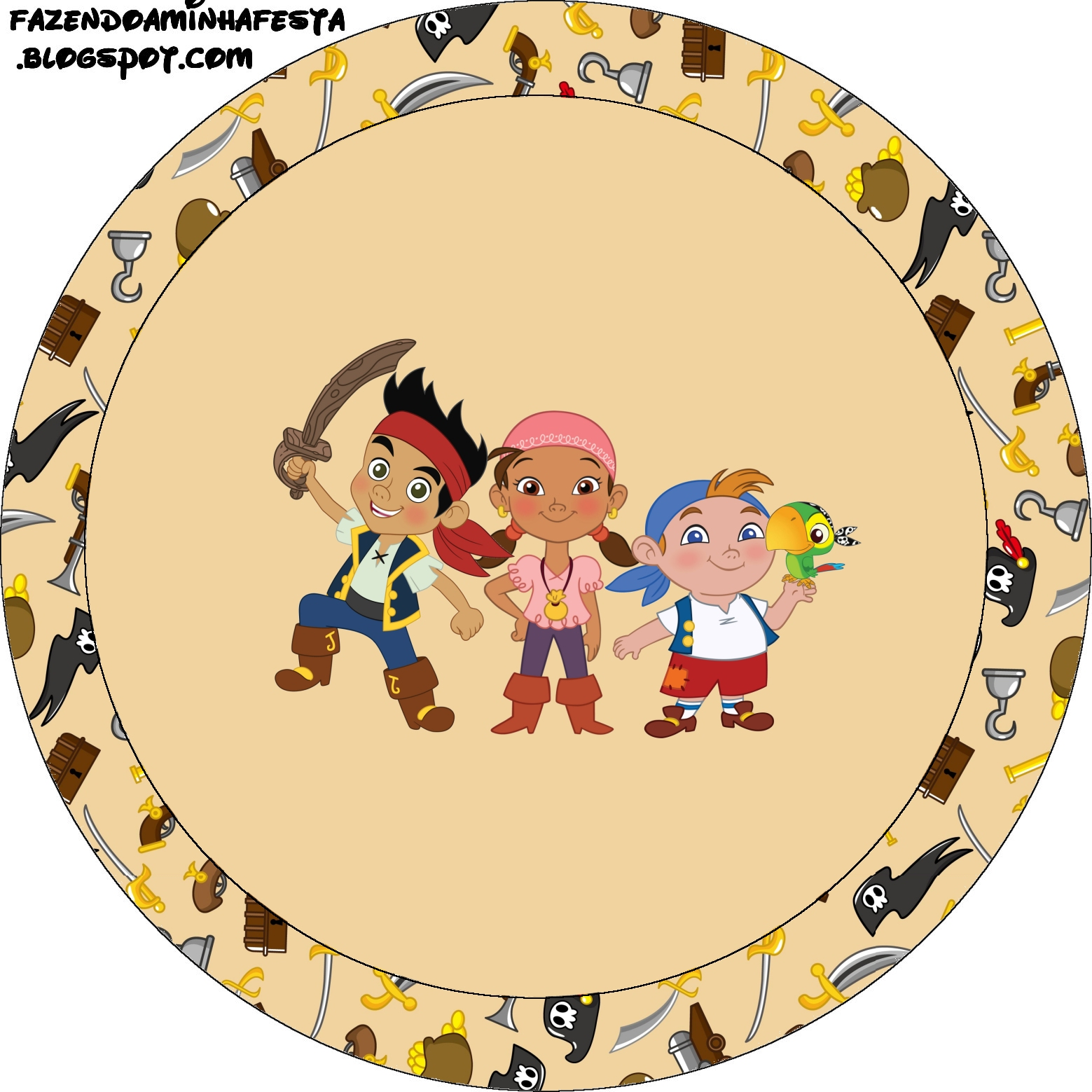 Jake and Neverland Pirates Free Printables Labels