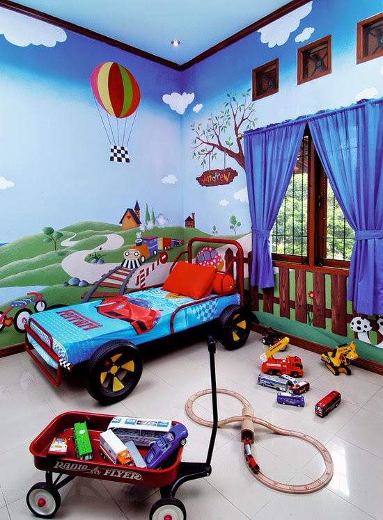 contoh tempat tidur bayi laki-laki