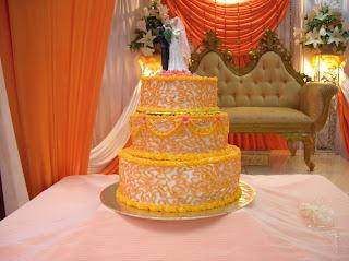 Cakes Cakes N More Orange And Gold Wedding Cake
