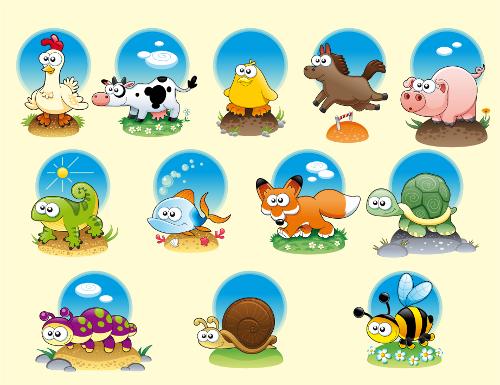 Vectores dibujos de animales infantiles - Imagui