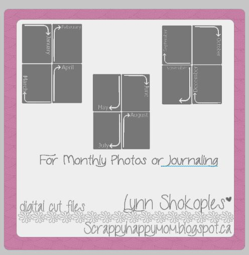 Lynn Shokoples Monthly Photo Cards