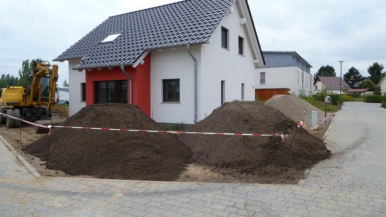 Mutterboden und Betonrecycling