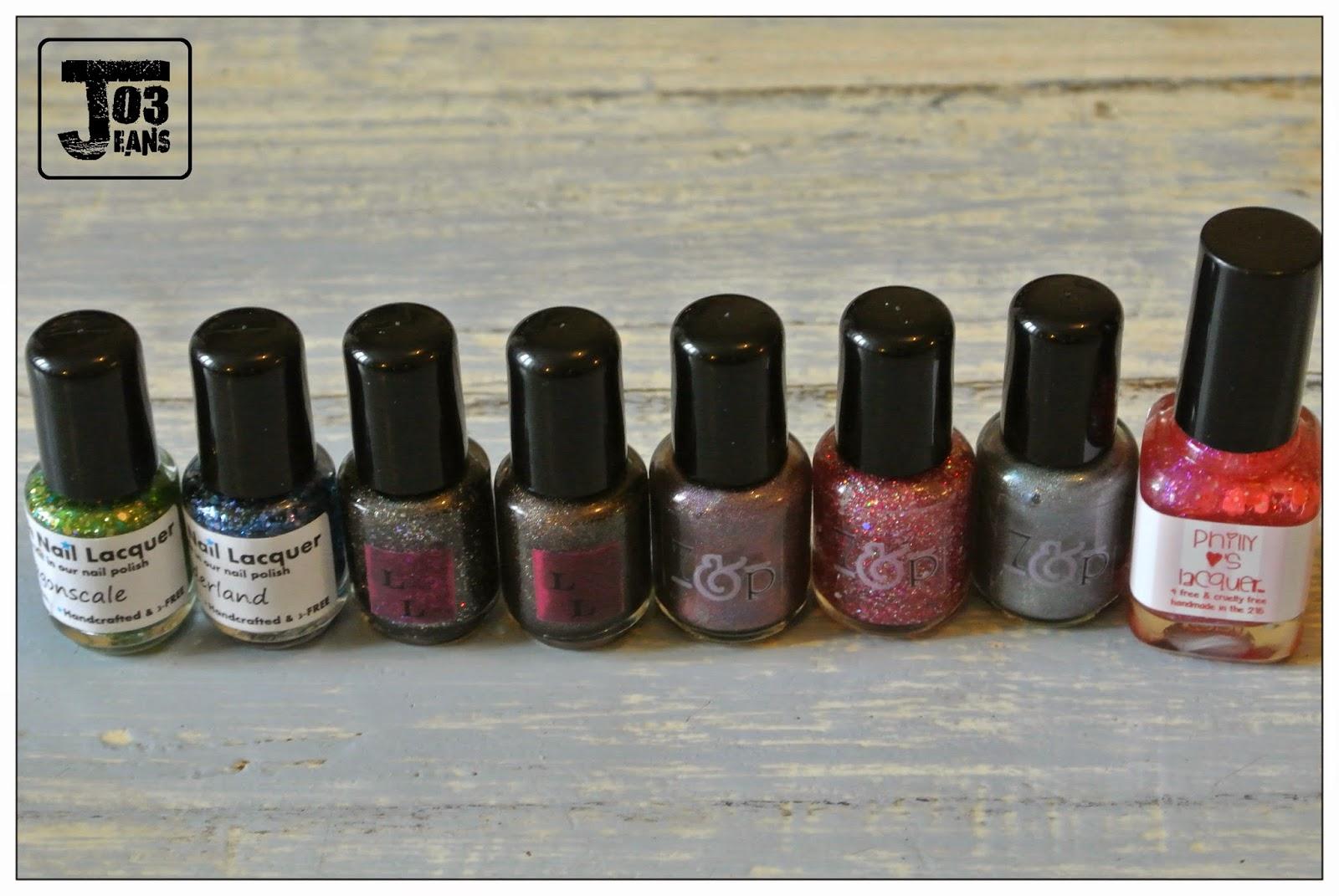 indie polish, samples, minis flacons,