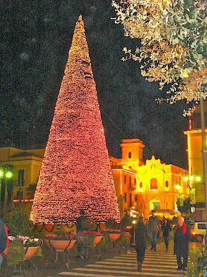 Large Christmas Tree with Lights