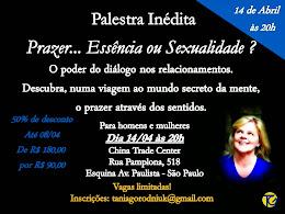 PALESTRA DIA 14 DE ABRIL - 20H
