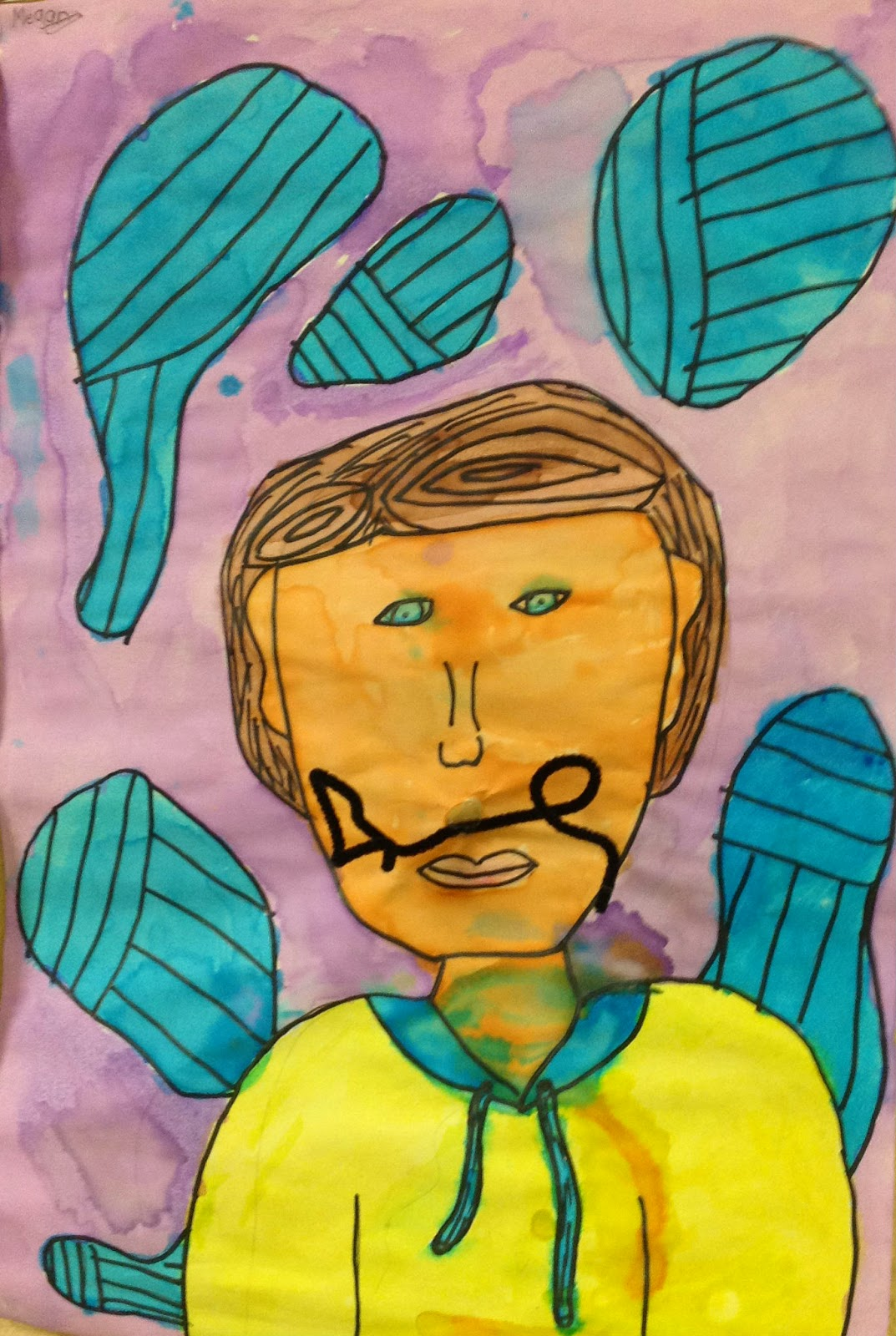 Salvador Dali's Mustache 4th Grade Art Lesson