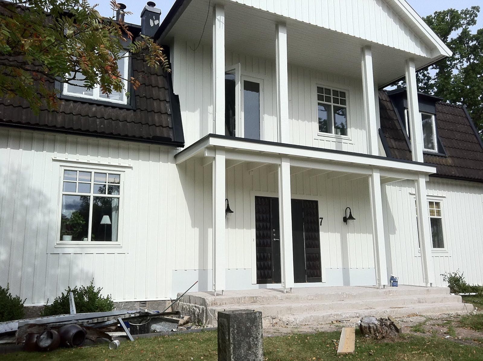 Inredning trall till balkong : Stationsvägen: Då var det vitt!! Nu återstår bara;-) att bygga ...