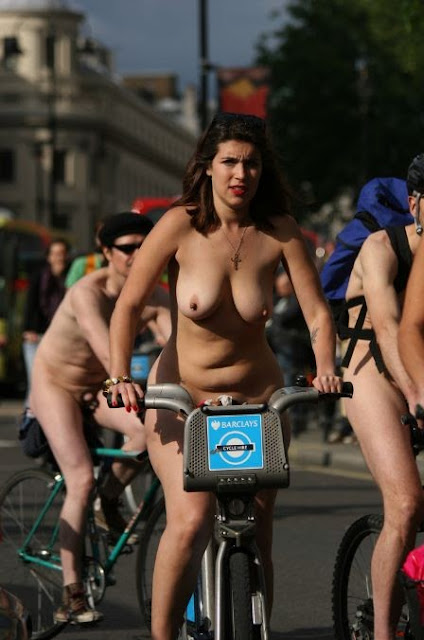 Nude women riding motorcycles