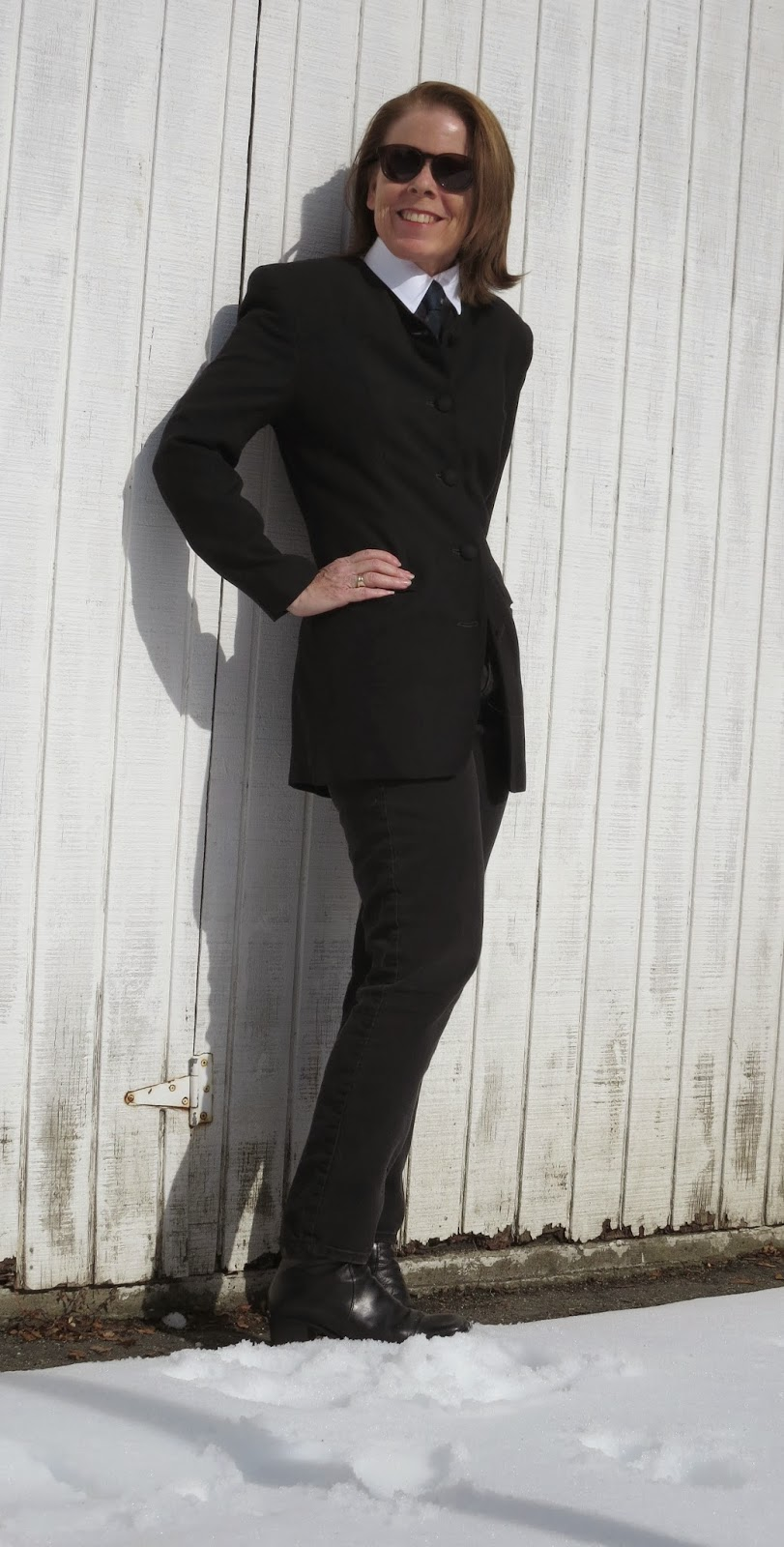 black tie and jacket for women over 50