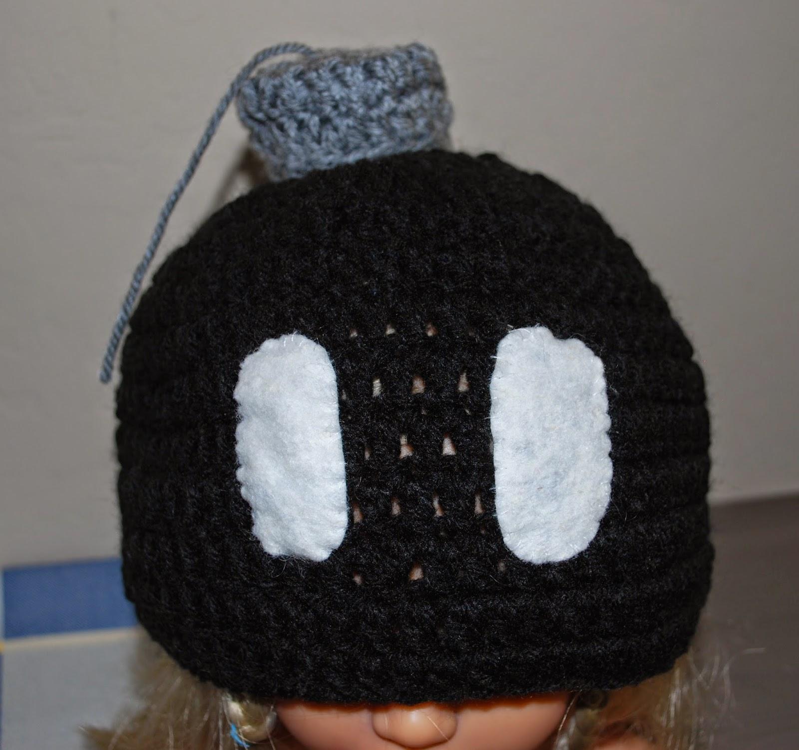 Bob-Omb Crochet Hat